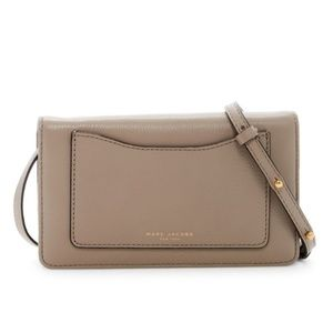NWT Marc Jacobs Recruit Leather Crossbody Wallet